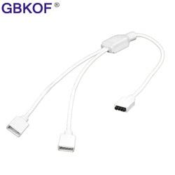 1to2 1to3 1to4 женский разъем, разветвитель RGB, Удлинительный кабель с 4-контактным разъемом для светодиодной ленты 3528 5050