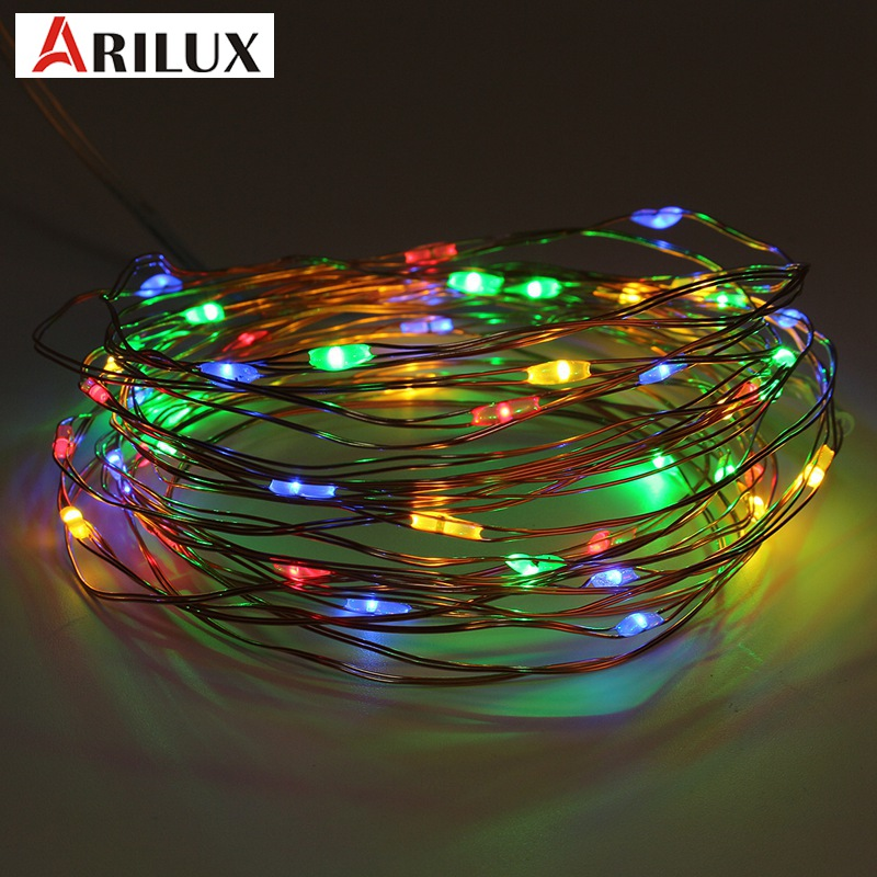 ARILUX 5M 8 Modes 50 LED String Light Christmas Waterproof Copper Wire LED String Fairy Light Battery Powered Remote Control