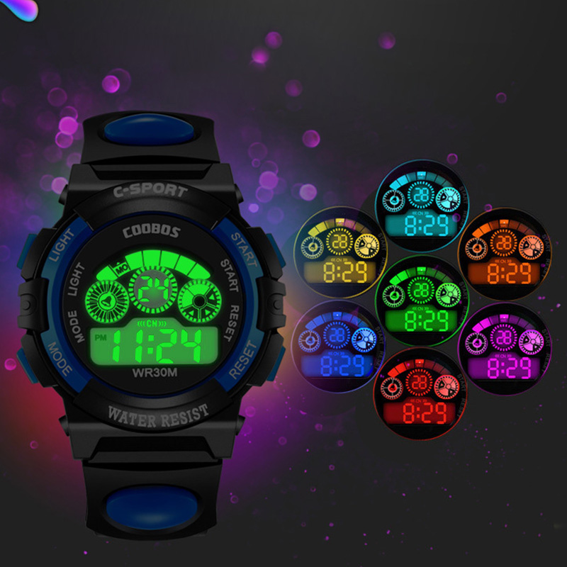 Fashion Sport Children Watch Kids Watches For Boys Girls Clock Students Electronic Wrist Watch LED Digital Wristwatch Child Gift