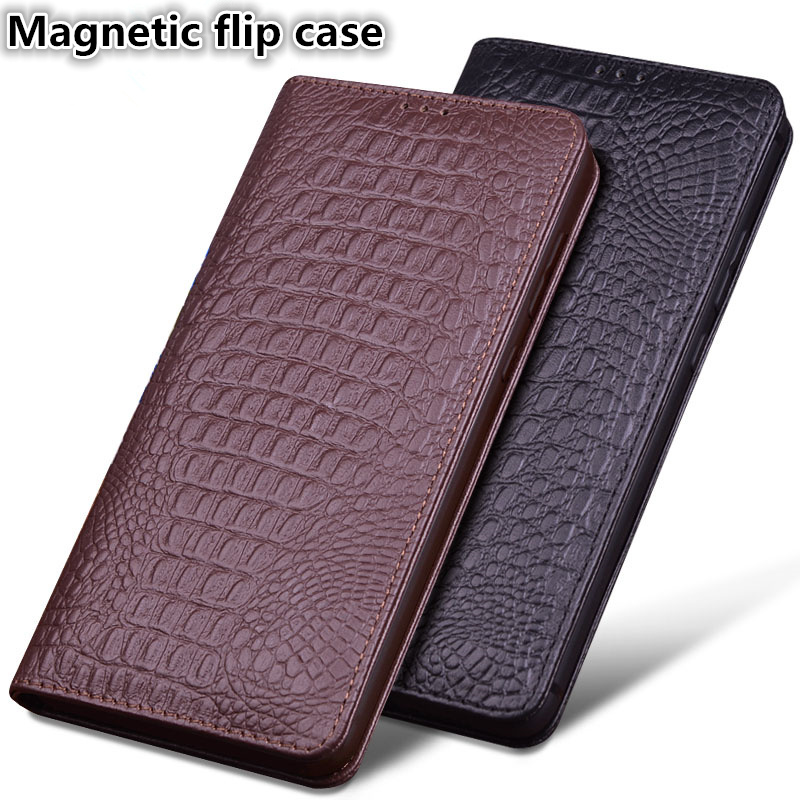 LS03 Natural Leather Magnetic Flip Case For Motorola Moto Z2 Play Phone Case For Motorola Moto Z2 Play Case With Stand Coque