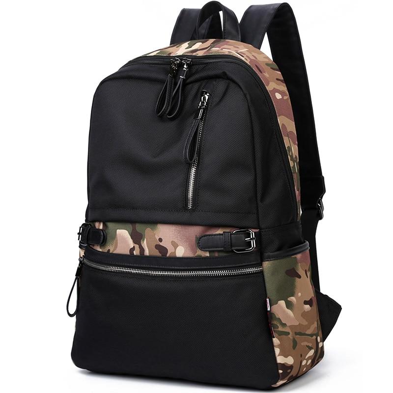 Brand 2017 Korean Style Fashion Men and Women Backpacks Waterproof Nylon School 14 Laptop Backpacks for