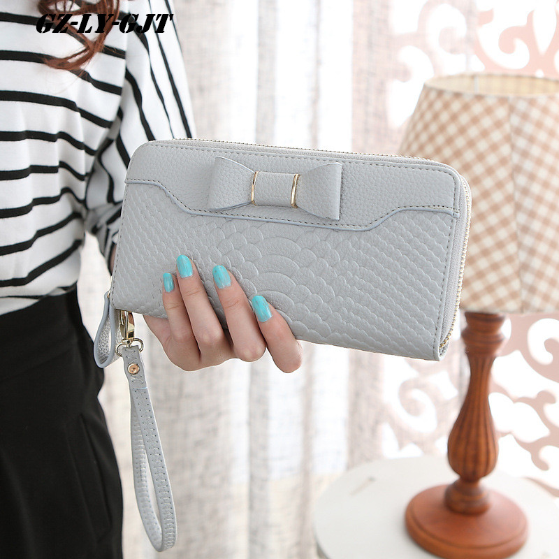 GZ-LY-GJT Brand Purse Wallet Card Holders Cellphone Pocket  Female  Money Bag Clutch Coin Purse Ladies Famous Gifts For Women