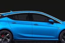 Для Opel Astra K (Хэтчбек) 2015 2016 2017 нержавеющая сталь Верхнего окна surround накладка украшения 8 шт.