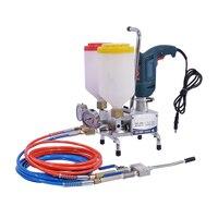 QZ-800 çift sıvı yüksek basınçlı enjeksiyon makinesi derzleme enjeksiyon makinesi çift eleman çatlak enjeksiyon pompası için PU veya epoksi