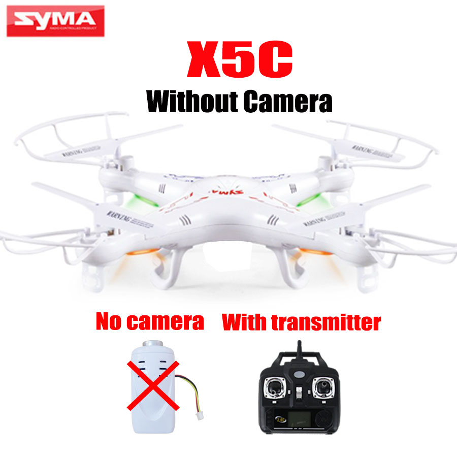 Retail Drone Syma X5C Single Helicopter With Transmitter Remote Control Stand-Alone Quadcopter Without Camera Spare Parts syma x5 x5c x5c 1 explorers new version without camera transmitter bnf