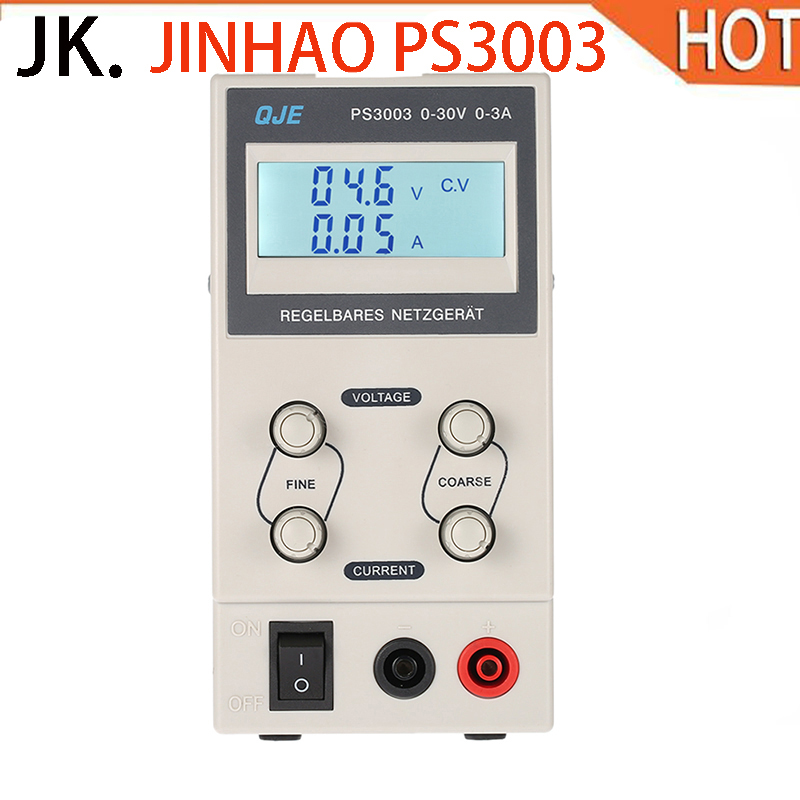 купить JINHAO PS3003 30V 3A 5A Professional Digital Adjustable DC Power Supply Laboratory Switching Power Supply 110V 220V US/EU Plug