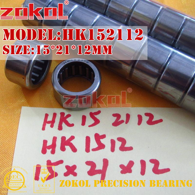 ZOKOL Bearing HK1512 HK1514 HK1516 HK1522 TA1512 Needle Roller Bearing 15*21*12/14/16/22mm