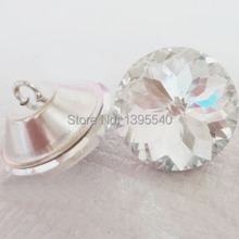 New 30mm Bauhinia Crystal Glass Buttons Sofa Industry Decoration Fileds Soft Clear Crystal Button KTV  Wall Decorative Buckle new coming 100pcs 25 35mm crystal nail buckle crystal nails button sofa wall decoration furniture accessories crystal buckle