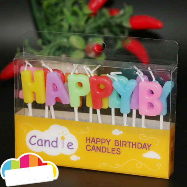 New Colorful Birthday Cake Candles Decorations Happy Birthday