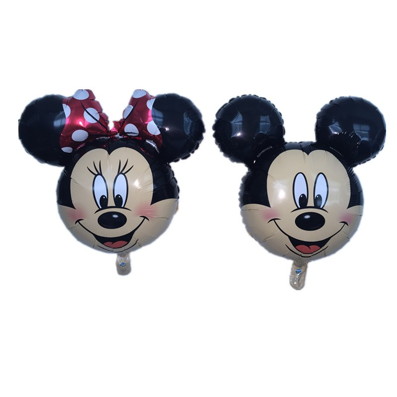 QGQYGAVJ 10pcs/lot aluminum balloons Minnie Mickey head balloon Cartoon Birthday Party Wedding decorations childrens toys