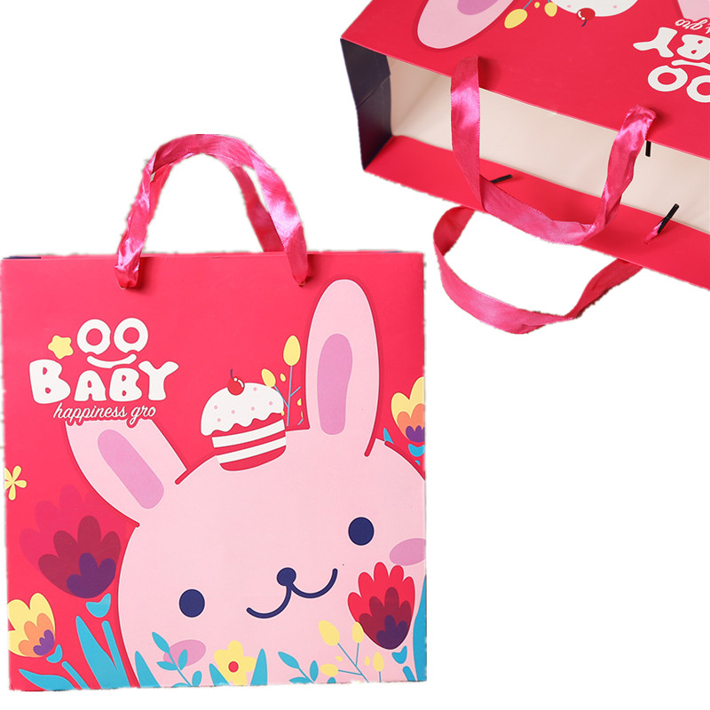 20pcs/lot Easter Rabbit Thick Kraft Paper Gifts Bags