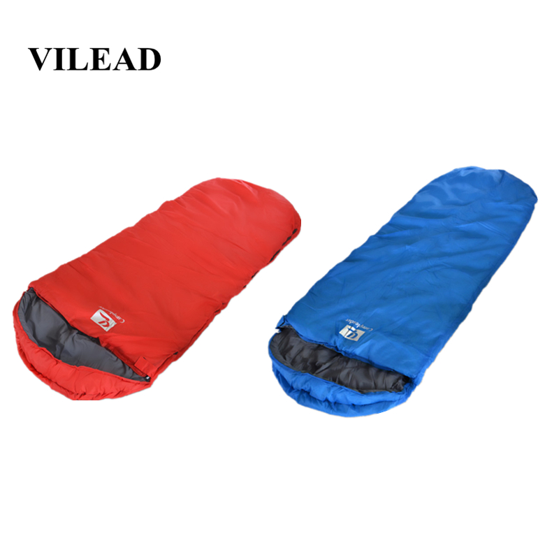 VILEAD Envelope type Ultralight Sleeping Bag Portable Waterproof Hiking Camping Stuff  Adult Camp Quilt Lightweight Winter Sleep-in Sleeping Bags from Sports & Entertainment