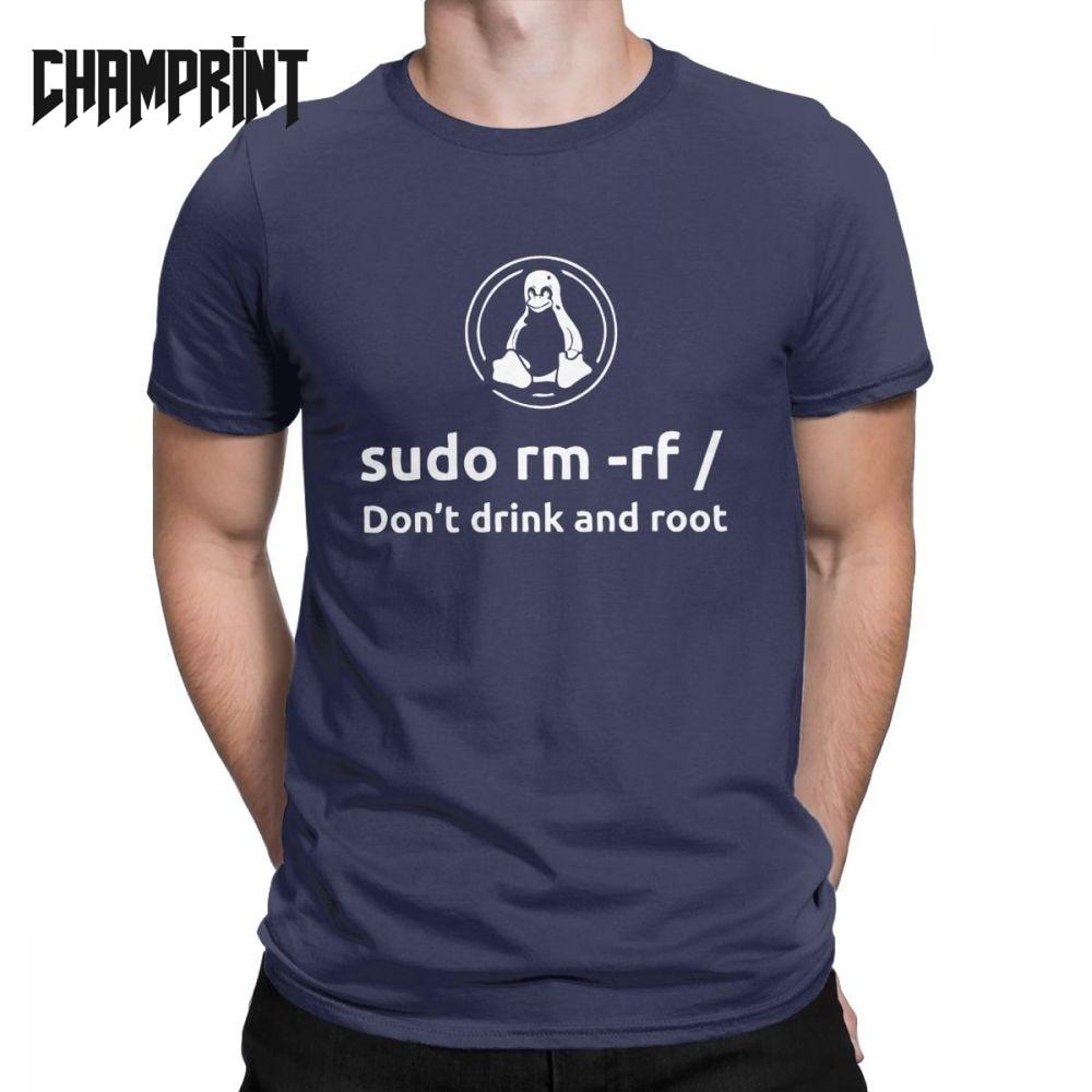 Programmer Programming Coding Coder Men T Shirt Linux Root Sudo Fun Tee Shirt Short Sleeve T-Shirt 100% Cotton Gift Clothes