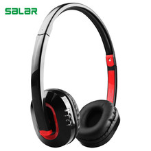 Salar X4 Portable Hifi Stereo Wireless Bluetooth Headset with Mic Deep Bass for PC Computer Phone Headphones(China)