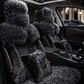 Special fur car seat covers For SsangYong Korando Actyon Rexton Chairman Kyron car accessories car styling black beige red pink