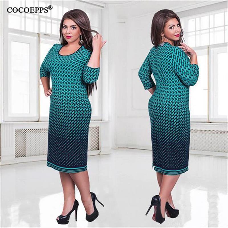Elegant Autumn Winter women dress big sizes Women loose ...