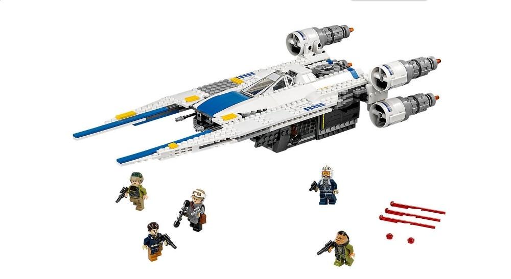 ФОТО New 679pcs 05054 StarWar Series Rebel U wing fighter jets Building Blocks Bricks Model Toys 75155 bricks Boys Gifts