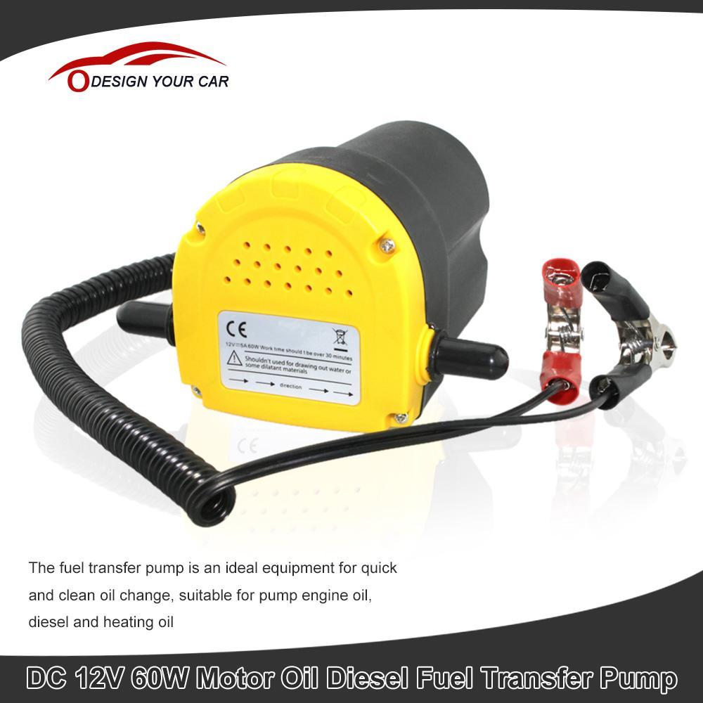 Prix pour Extracteur D'huile De voiture Pompe DC 12 V 60 W Pompe De Transfert De Carburant voiture Moto Diesel Fluide De Récupération D'huile Liquide Échange Transfert D'huile pompe