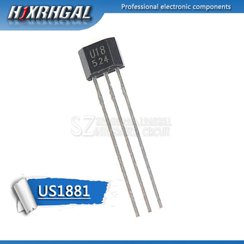 1pcs U18 US1881 TO-92 OH188 1881 U18 TO92 Hall Effect Sensor Magnetic Detector Hall Sensor Motor HJXRHGAL image