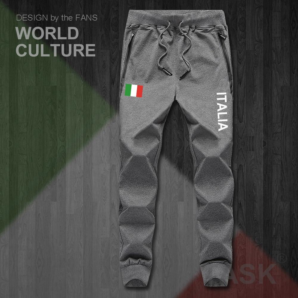 Italy Italia Italian ITA Mens Pants Joggers Jumpsuit Sweatpants Track Sweat Fitness Fleece Tactical Casual Nation Country Leggin