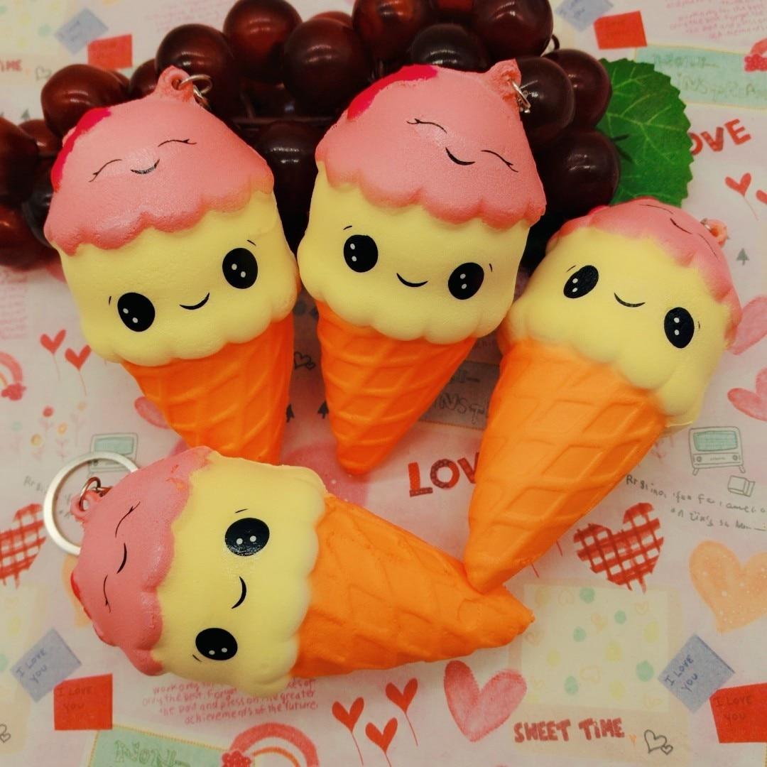 Slow rebound Two-headed smile ice cream toy mini Squeeze Exquisite Fun Ice Cream Anti-worry artifact