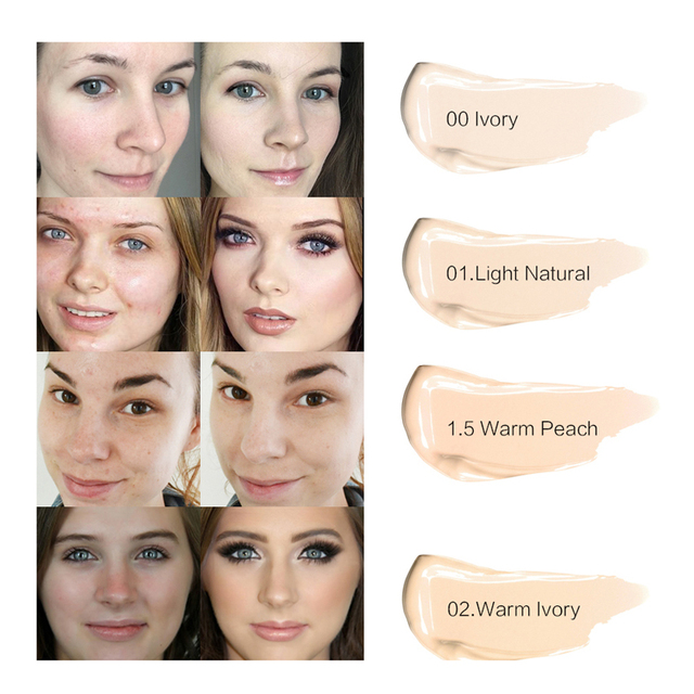 SACE LADY Full Cover 8 Colors Liquid Concealer Makeup 6ml Eye Dark Circles Cream Face Corrector Waterproof Make Up Base Cosmetic 4