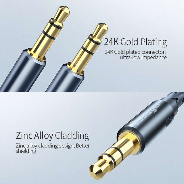 Essager Aux Cable Speaker Wire 3.5mm Jack Audio Cable For Car Headphone Adapter Male Jack to Jack 3.5 mm Cord For Samsung Xiaomi 3