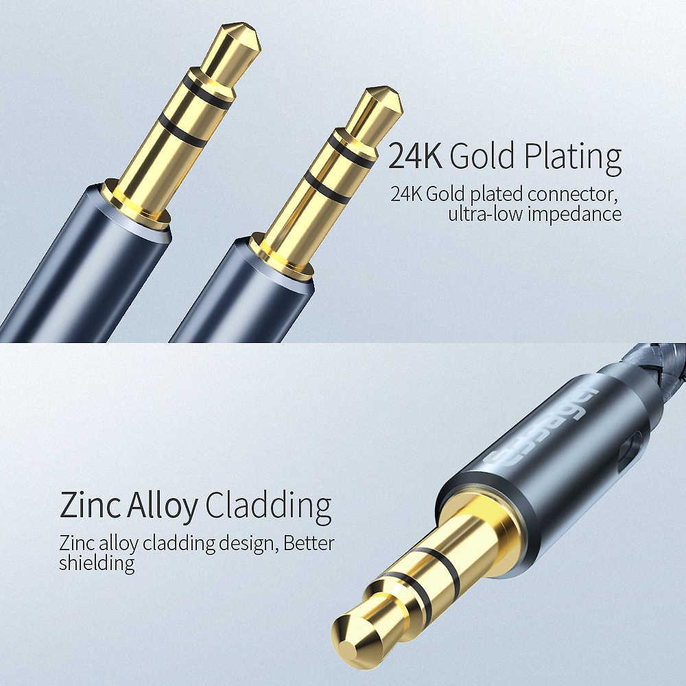Essager AUX Cable สายลำโพง 3.5 มม.แจ็คสายสัญญาณเสียงสำหรับรถยนต์อะแดปเตอร์หูฟังแจ็คแจ็ค 3.5 มม. สำหรับ Samsung Xiaomi