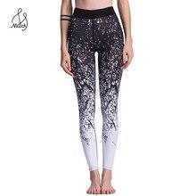 Fashion Women Leggings Warm Pants Fitness Legging Put Hip High Waist Trouser Elastic Graffiti 3d Cube Gradient Magic Print Maidy