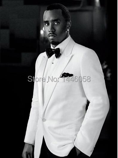 Nº2018 Fashion Custom Made White Wedding Dress Suit For Men Slim Fit ...