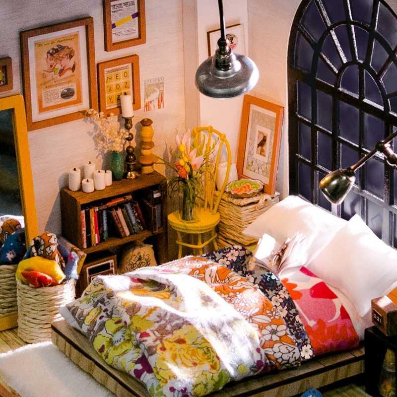 Robud DIY кукольный домик Миниатюрный Кукольный дом мебель деревянные комплекты кукольных домиков для кукольных игрушек для детей подарок для девочки дропшиппинг