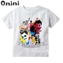 Baby Kids T Shirt Boys/Girls Queen Freddie Mercury Short Sleeve Tops Childrens Rock Band White T-Shirt