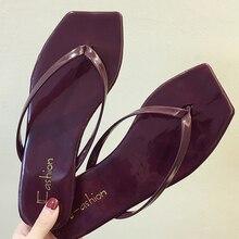 Женская обувь; Вьетнамки; Новая Летняя обувь на плоской подошве; нескользящие босоножки с носком;