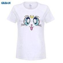 Sailor Moon Artemis GILDAN Camiseta conjuntos de Impressão rabisco solta  t-shirt dos desenhos animados 3a6c9e6b184