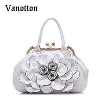 2016 Fashion Brand Design Women Casual Floral Handbags High Quality PU Leather Bags Shoulder Bag Handbags