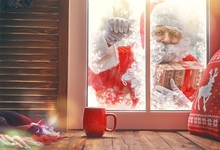цены Laeacco Winter Christmas Window Santa Claus Cup Baby Photography Backgrounds Customized Photographic Backdrops For Photo Studio