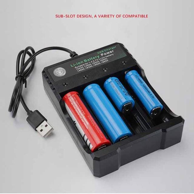 3.7 v 18650 Lader Li-Ion batterij USB onafhankelijke opladen draagbare elektronische sigaret 18350 16340 14500 batterij lader
