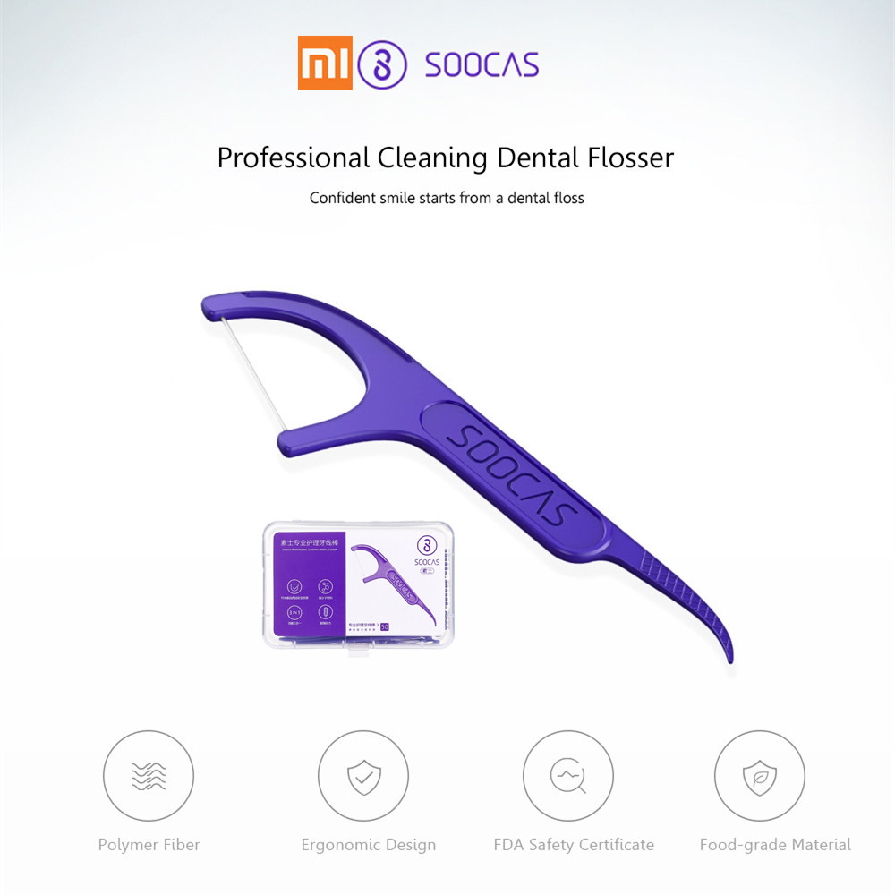 Xiaomi SOOCAS Professional Cleaning Dental Floss ONE-BOX Pack 50PCS Or SIX-BOXES Pack 300PCS
