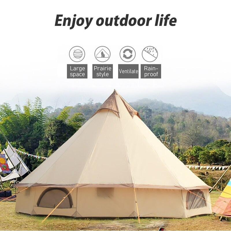 Große Raum Mongolei Jurte Zelt 8-10 Person Im Freien Wasserdichte Oxford Familie Zelt für Selbst-stick Camping Wilden überleben Picknick