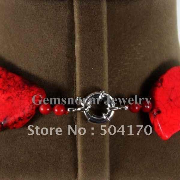 Splendid Chunky Batu Merah Kalung Irregular Alam Batu Iris Fashion