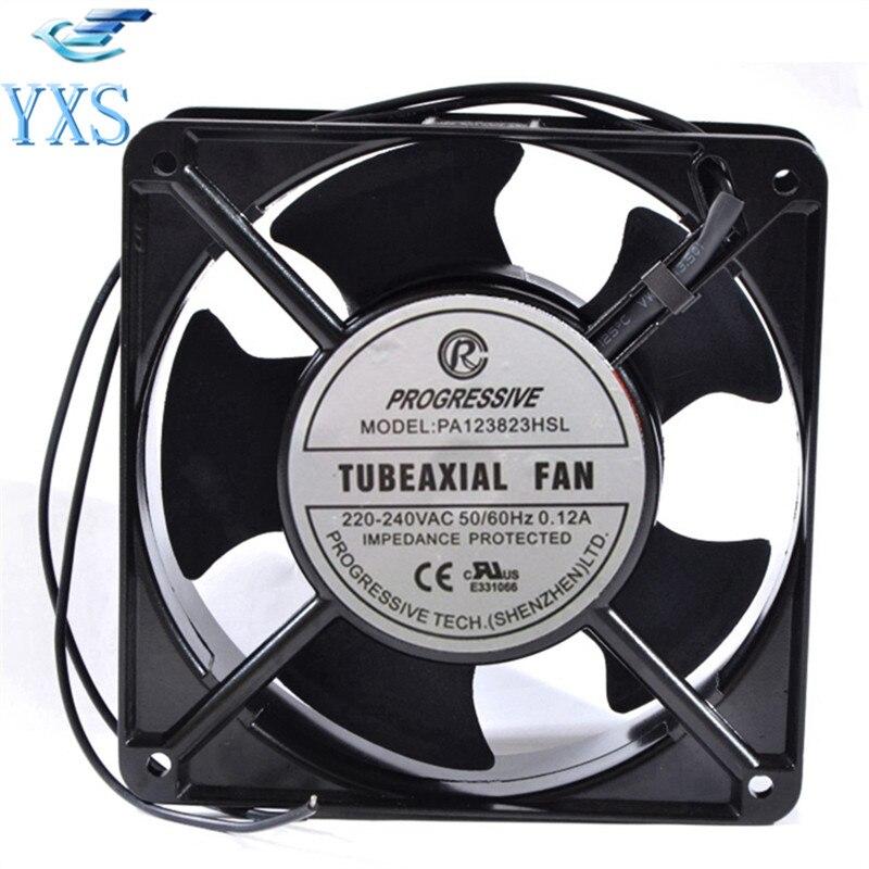 PA123823HSL AC 220V-240V 0.12A 50/60HZ 2 Wires 20/19W 2950RPM 12038 12CM 120*120*38mm Cabinet Cooling Fan sunon dp200a 2123xbl gn cooling fan 12cm 220v 12cm 12038 120 120 38mm 220v wire type