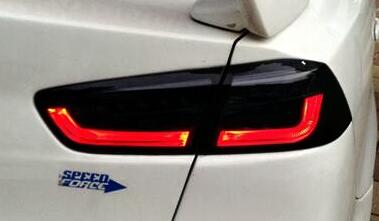 1pair brand new led tuning tail lights led tail lamps light bar style rear lamps fit for mitbusihi lancer ex 2010'