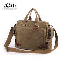 Nuovo Design! Bavi sacchetto di modo della tela, maschio sacchetti di spalla casuali, sacchetto del messaggero degli uomini, alta qualità laptop tela valigetta