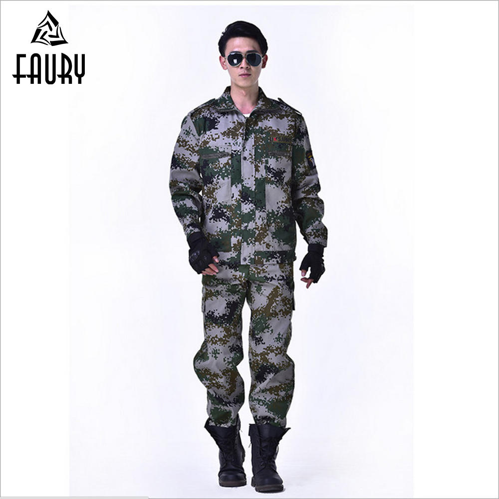 High Quality Army Military Uniform Tactical Camouflage Suits Military Fans Male Combat Uniforms CS Training Uniform Hunting Suit