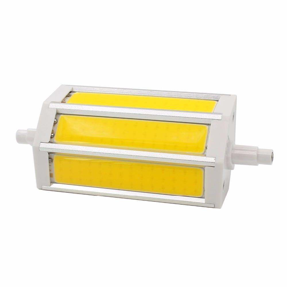 Buy r7s j118 cob led bulbs 78mm 10w 118mm 15w 135mm 20w 189mm 25w warm white for R7s led 118mm 20w