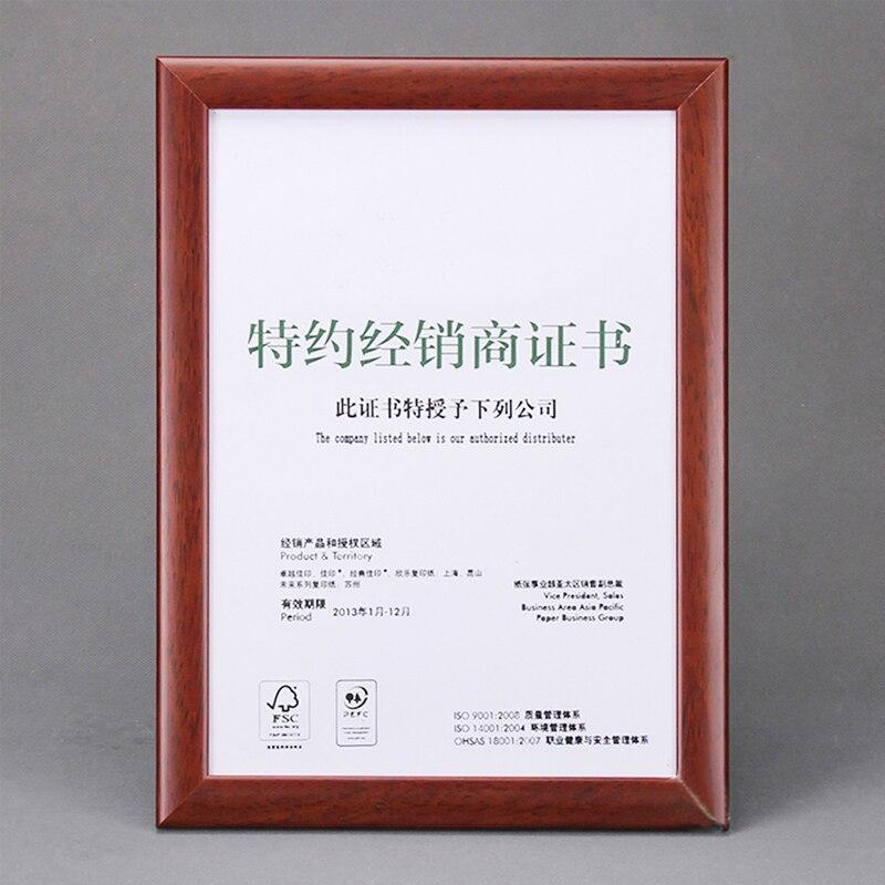 comprar montado en la pared y encimera de madera maciza de madera marcos certficate de diploma certificado imagen y cartel wp de wood