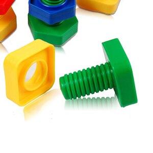 Image 3 - 5 セットベビー 3D パズル子供建物のパズルのおもちゃゲーム子供のため 3 年知育玩具心構築ねじナットセットモンテッソーリ