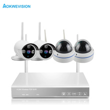 Wifi Security Camera System 4CH NVR Kit 4PCS 1080P HD indoor and outdoor IP Surveillance Camera 1TB HDD For Optional