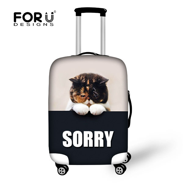 Hot Sale 3D Cartoon Cat Luggage Sets Elastic Cover for Girls Boys Men's Luggage Protective Rain Covers for 18 -30  inch Suitcase