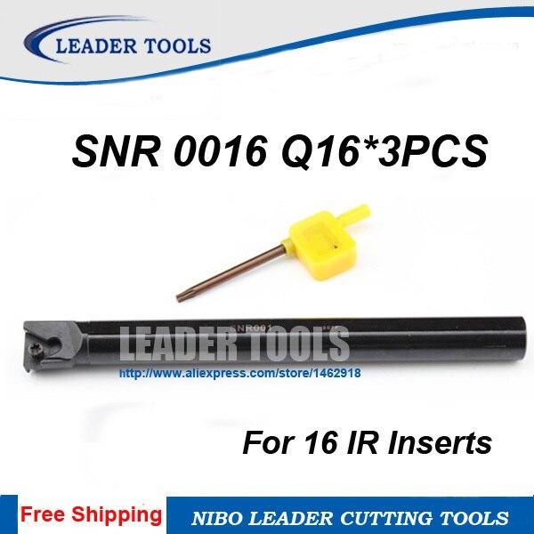 SNR0016Q16 16*180mm Threading Turning Boring Bar Holder for 16IR CNC INSERT